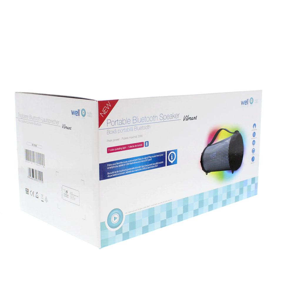 Boxa Portabila Well Vibrant Lumina RGB