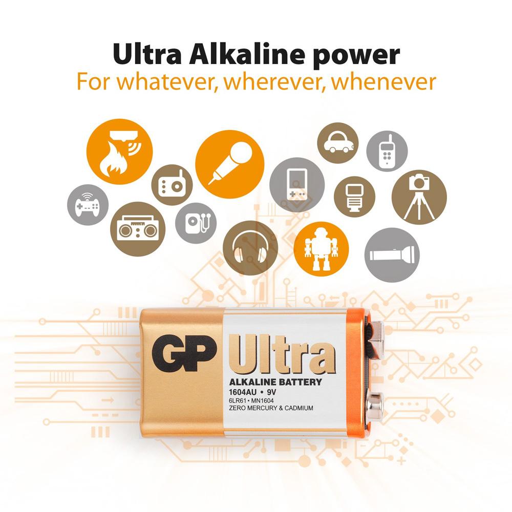 Baterie GP Batteries Ultra Alcalina 9V