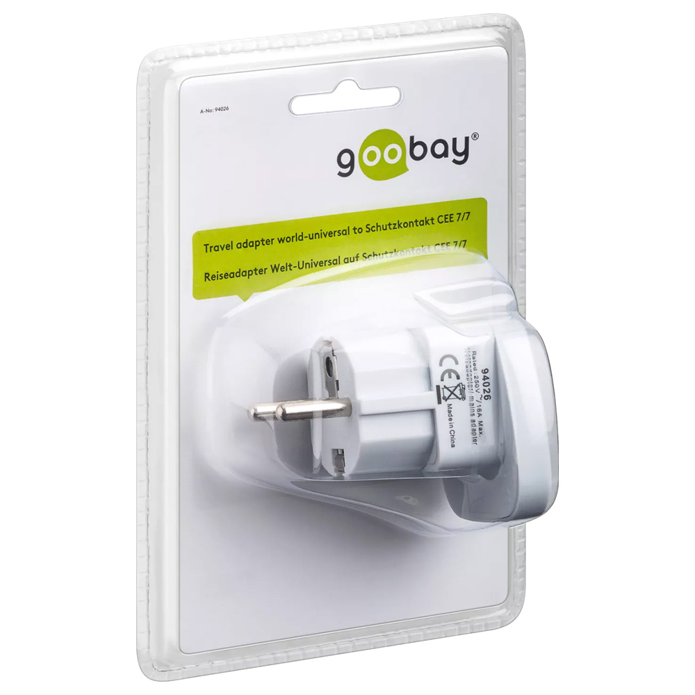 Adaptor Priza Universala Goobay Travel Adapter