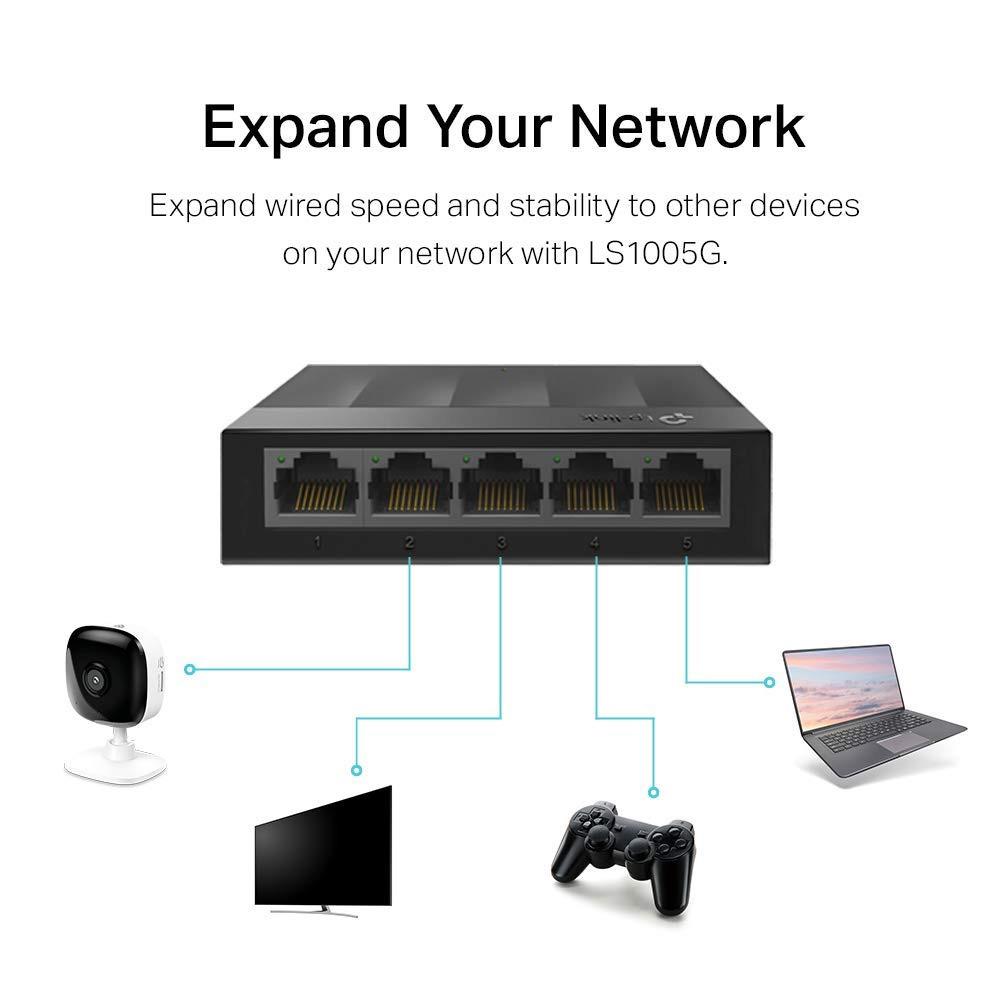 Switch TP-Link LS1005G 5 porturi 10/100/1000Mbps
