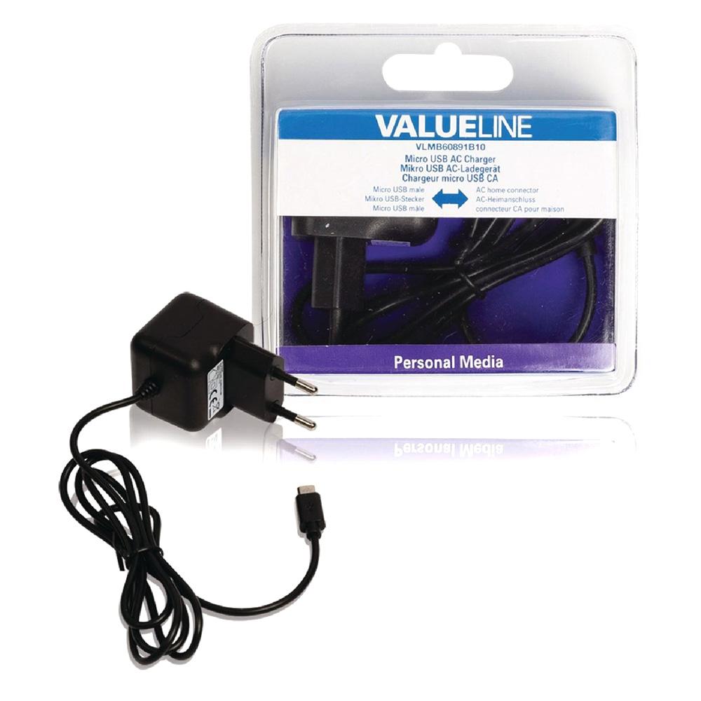 Alimentator USB ValueLine VLMB60891B10 2.1A MicroUSB