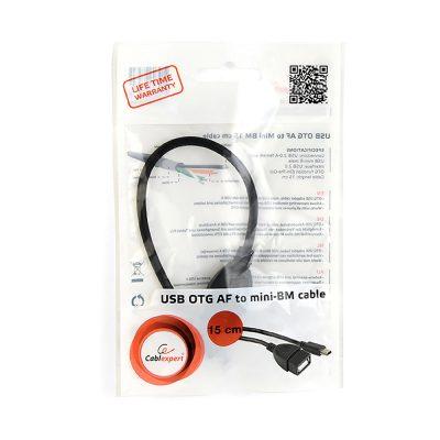 Cablu OTG Cablexpert A-OTG-AFBM-002 mini USB-B