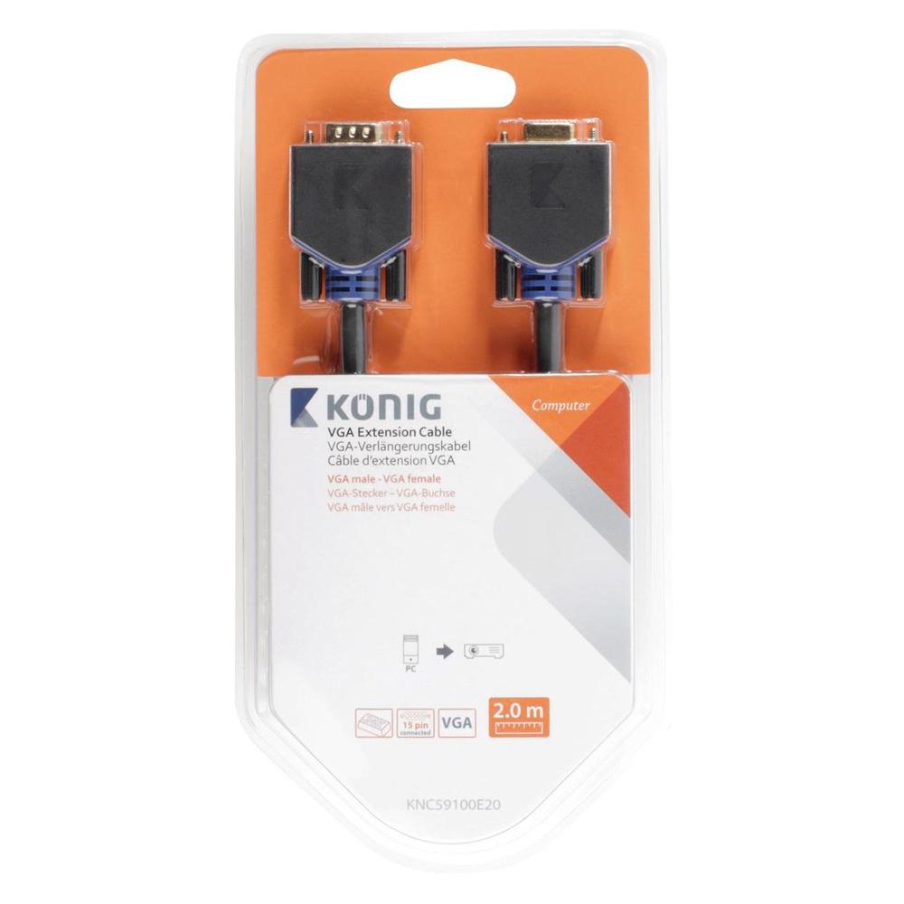 Cablu Prelungitor König KNC59100E20 VGA-VGA T/M