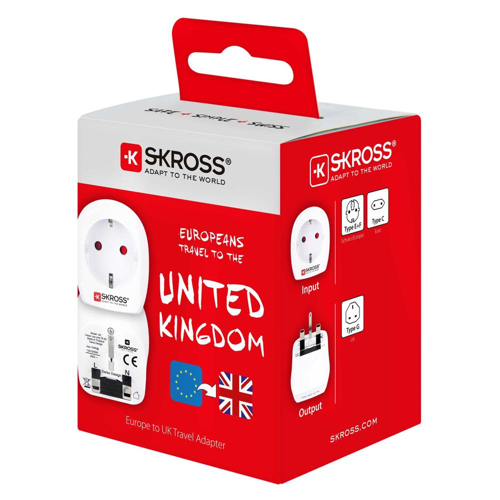 Adaptor Priza Skross Europe la UK