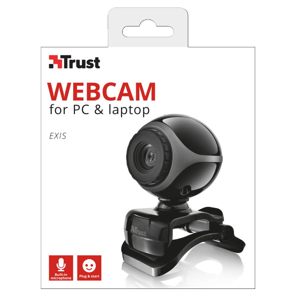 Camera Web Trust Exis 17003 Negru