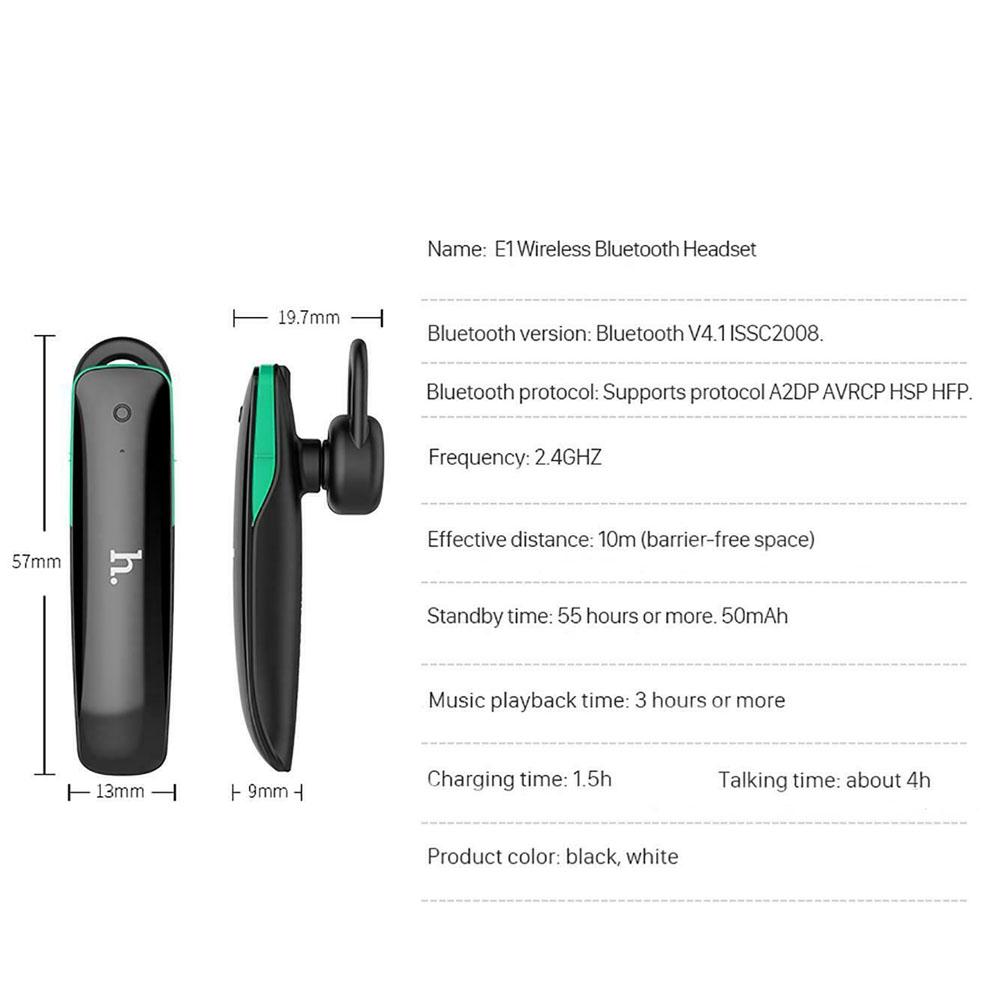 Headset Bluetooth V4.1 Hoco E1 Negru